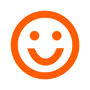 Lachendes Smiley in Orange